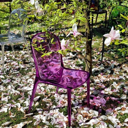 #kartell purple chair