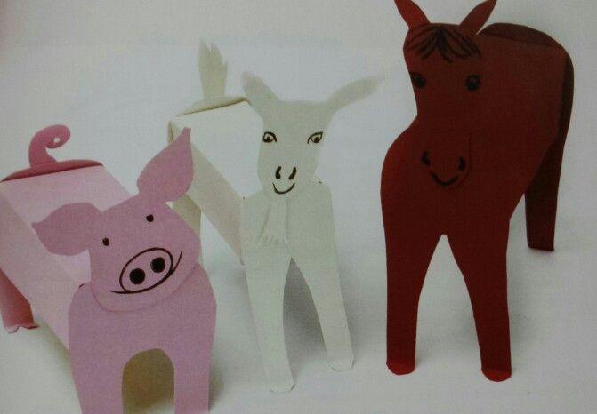 3d knutsel: boerderijdieren