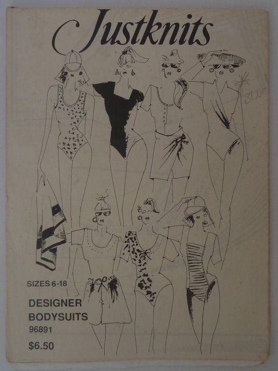 Bodysuits sizes 6-18 Designer Bodysuits sewing pattern by Justknits 96891 Ladies bodysuits