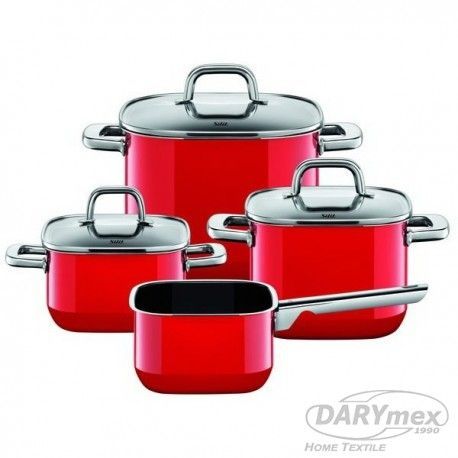 set of square pan, energy red , more on darymex.com and sklep.darymex.pl