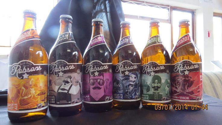 the Robson's Brewery range of beers #KZNcraftbeer