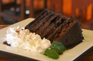 Another slice of The Spotted Donkey's Jalisco Tower Cake that is. A Mexican inspired dessert made of an 11 layer chocolate cake with Patron XO Coffee Tequila scented chocolate mousse, chocolate covered coffee beans, whipped cream and a red chili spiced caramel sauce which offers just the right amount of spicy kick that every chocolate lover needs at the end of the day.