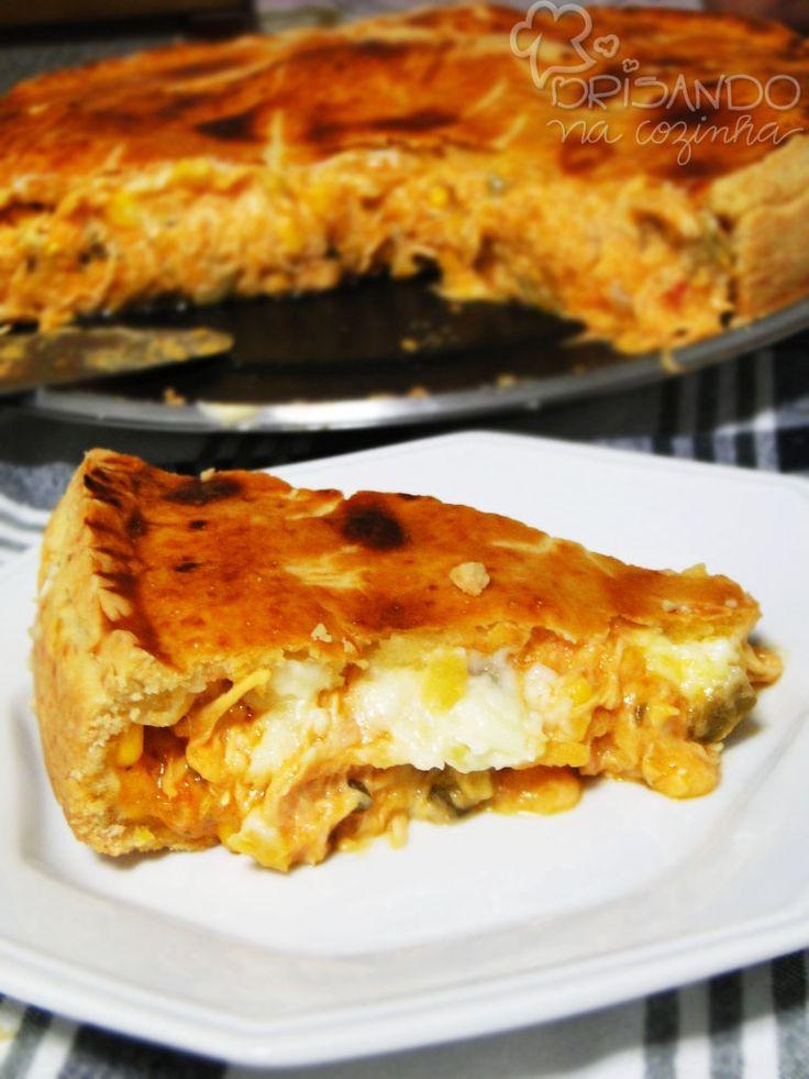 Brisando na Cozinha: Empadão de frango com catupiry