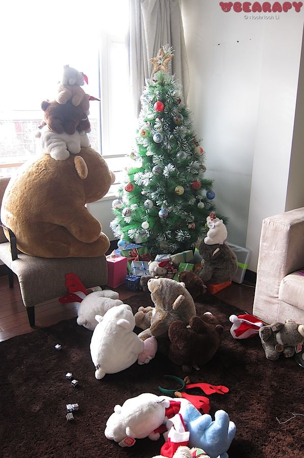Oh Christmas Tree. Gund Snuffles. By Noch Noch the Bearalist at Bearapy.  http://bearapy.me
