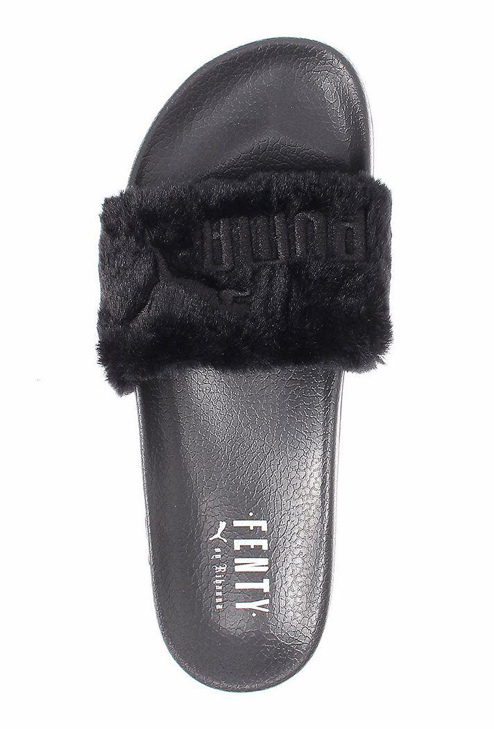 puma sandals black