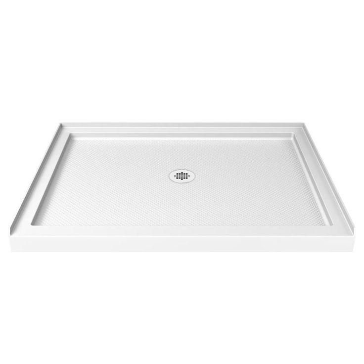 Dreamline Slimline White Acrylic Shower Base Common 36 In W X 48