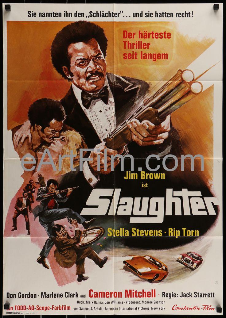 Slaughter-Jim Brown-Stella Stevens-blaxploitation action thriller-1973-23x33