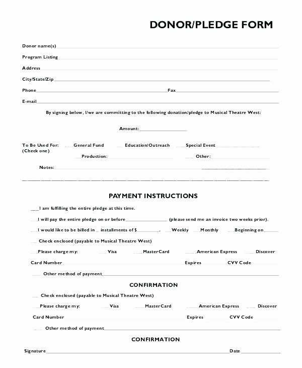 Charitable Donation Form Template Best Of Charity Donation Form Template Charitable Donation Form Donation Form Card Template Pledge