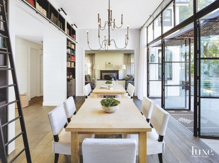 28 Home Libraries To Bookmark For Inspiration EntranceHome IdeasDining RoomsLiving