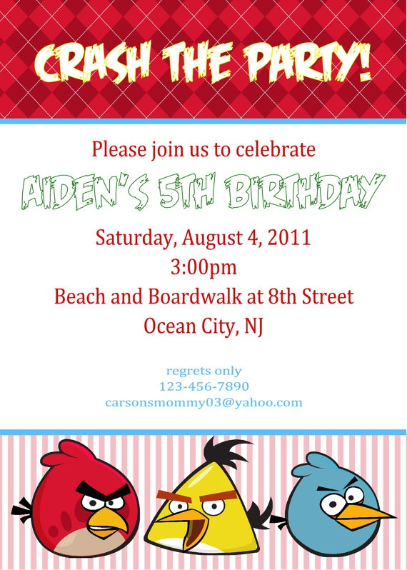 42 best images about Angry Bird Party – Angry Birds Party Invitations