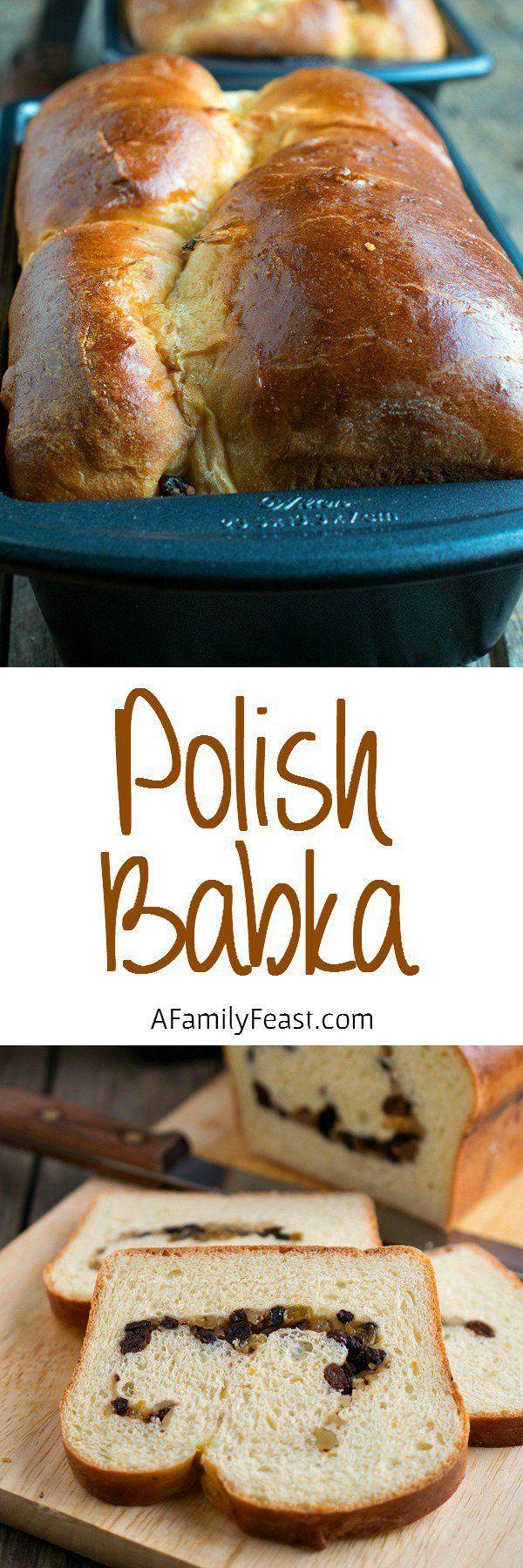 Polish Babka - A traditional bread served on Easter morning.