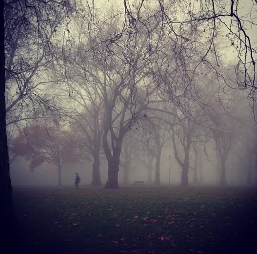 Misty Morning - Highbury Fields - London