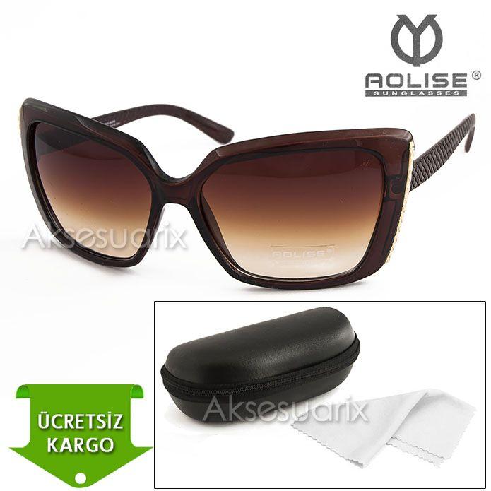 Vintage Aolise  Bayan Güneş Gözlüğü T51169 KAHVE http://www.aksesuarix.com/bayan-gunes-gozlugu