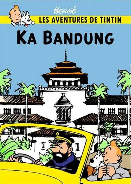 Les Aventures de Tintin - Album Imaginaire - Ka Bandung