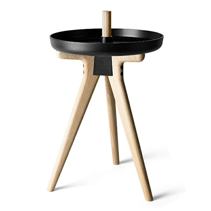 The Flip Around table is designed by Norm Architects DK for Menu flip. Light Ash and Black.