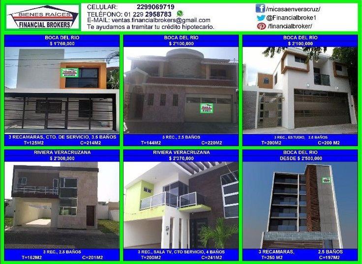 Casas y departamentos nuevos en Boca del río y Riviera Veracruzana desde $ 1'760,000 Estrena ya!!!