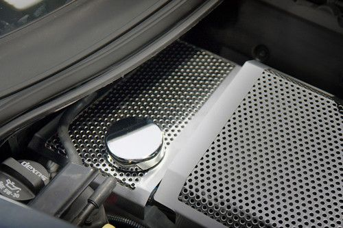 2014-2017 Corvette C7 Stingray Z06 | Z51 | Grand Sport - Perforated - Brushed Water Tank Cover by ACC