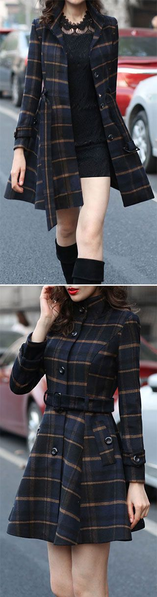 Plaid is one of the easiest patterns to incorporate into your wardrobe,never out of date. The Plaid Coat features waisted design and high collar. Go ahead, take the plaid at CUPSHE.COM !