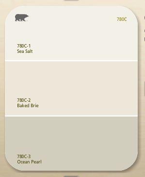 LiveLoveDIY: Great beiges for familynroom- behr ocean pearl with sea salt tim