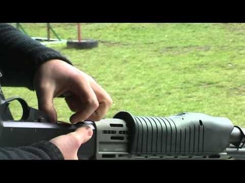 Shooting Franchi SPAS 12 shotgun