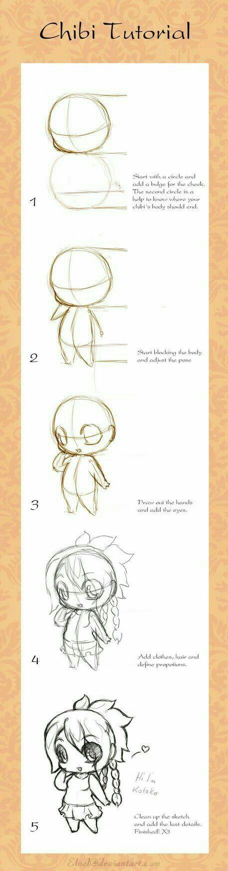 Chibi Tutorial, text; How to Draw Manga/Anime