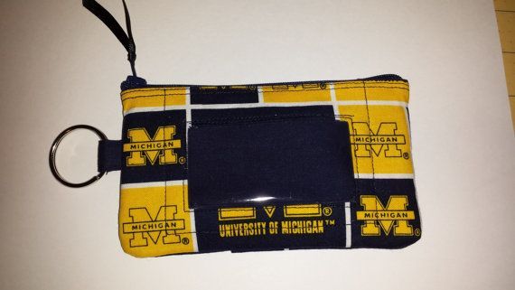 University of Michigan Zip ID pouch by TeresaScholleDesigns