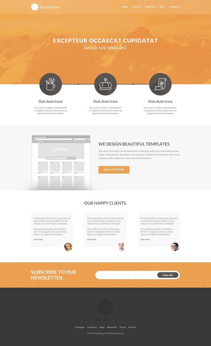 Free PSD & HTML5 Website Template Web design tutorials
