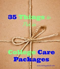 To a college student, a care package is like manna from heaven. Here are 35 Things to Put in College Care Packages that students will absolutely love. Be sure and check them out!