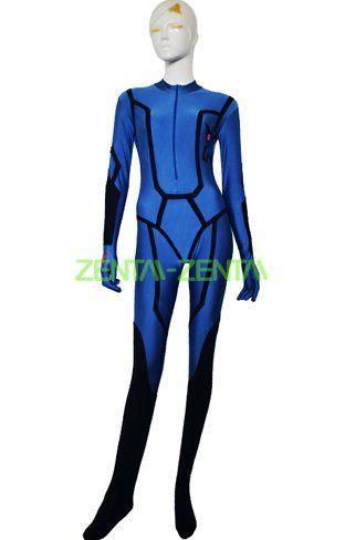 Samus Zero Suit | Blue Spandex Lycra Catsuit