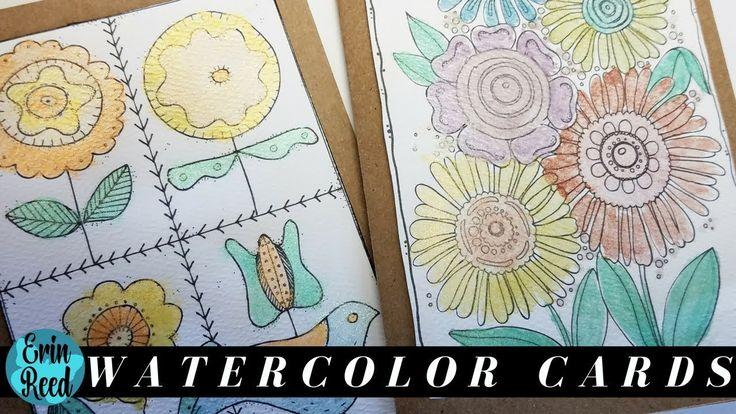 CAS Watercolor Cards
