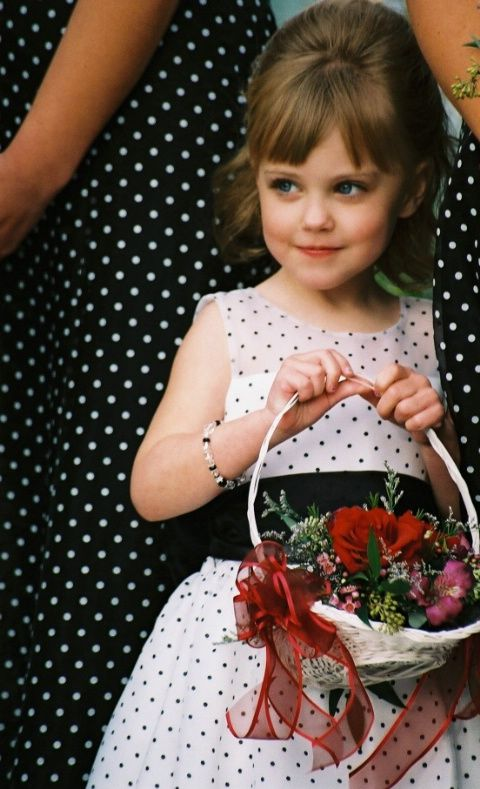 Polka-dot flower girl