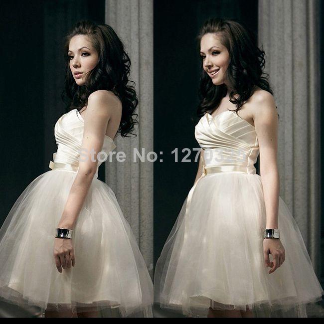 2014 Fashion Korean fashion wedding dress bridal gown bridesmaidProm  dress short paragraph wedding toast served Bra US $16.50