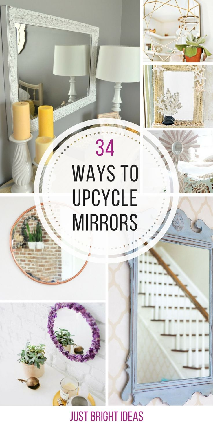 So many ways to upcycle an ugly mirror into something stunning! Thanks for sharing!