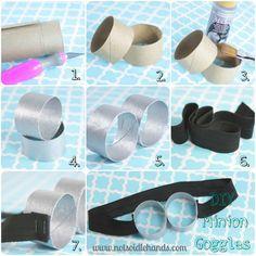 DIY Minion Goggles - 25+ minion party ideas - NoBiggie.net