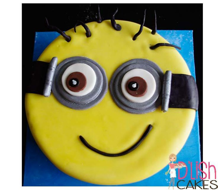 Minion - simple, round cake. By D'lish Cakes Broadford www.dlishcakesbroadford.com.au