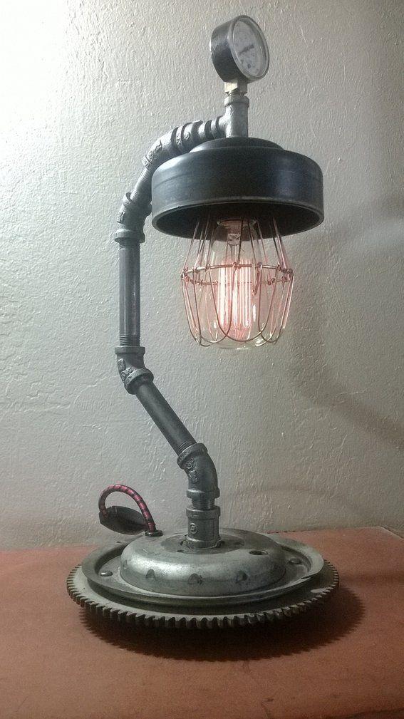 Parts Table Lamp : Best images about car part lamps on pinterest