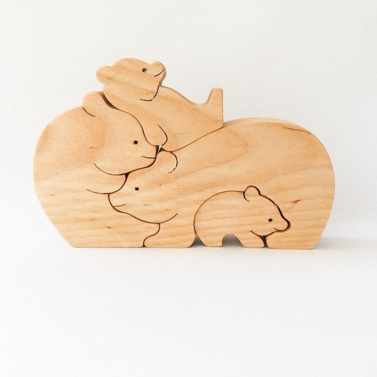 Wooden Bear Puzzle from Eco Puzzle - shop at littlewhimsy NZ