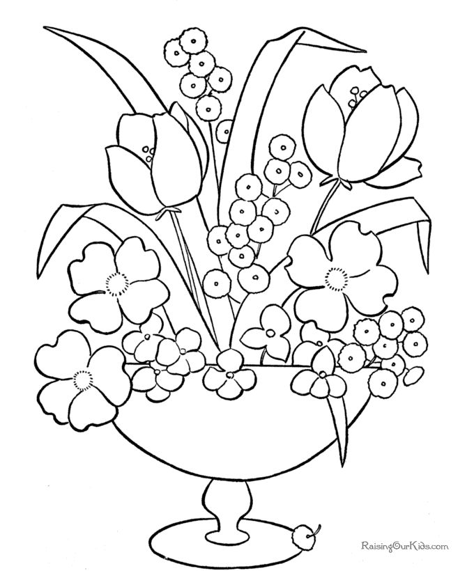 printable coloring pictures of flowers - Coloring Sheets To Print Out