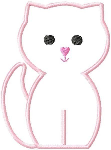 Kitty Cat Machine Embroidery Applique Design 2 sizes. $4.00, via Etsy.
