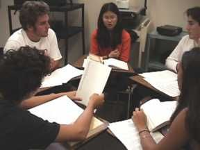Detailed description of how best to use literature circles in a high school classroom-- including many different roles.