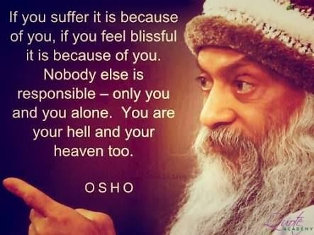 Image result for osho quotes with source from taken
