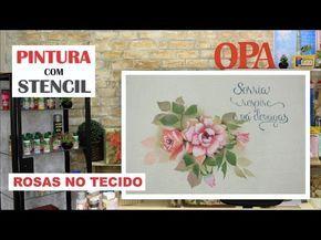 PROJETO | PINTURA COM STENCIL - ROSAS NO TECIDO | 22.03.17 | MAYUMI TAKUSHI - YouTube
