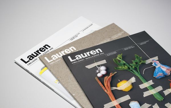 Magazine cover by Kasper Vestergaard, via Behance Organic magazine