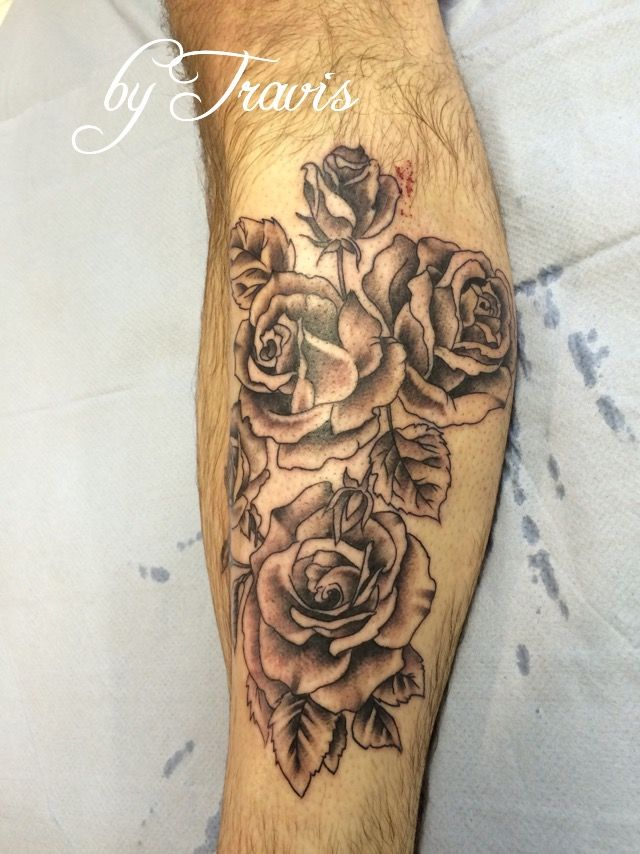 e5326ecff rose tattoo done by Travis Allen at twisted tattoo Yaxley Www.twistedtattoo  .co.