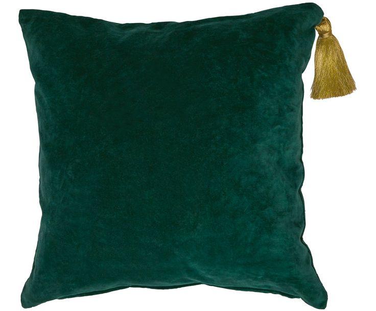 Schaffen Sie mit dem Samt-Kissen Princess in Dunkelgrün mit goldener Quaste Gemütlichkeit und lehnen Sie sich zurück. Shoppen Sie weitere tolle Textilien von MISS ETOILE auf >> WestwingNow.