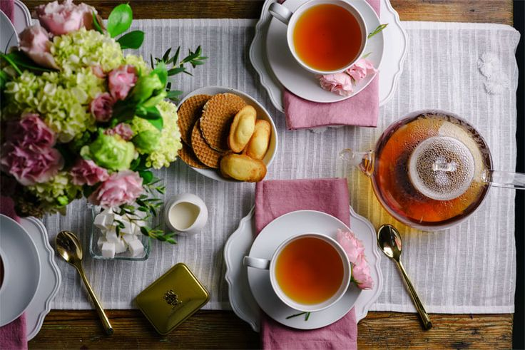Celebrate spring with tasty snacks, enticing desserts, and of course, a few pots of delicious tea.