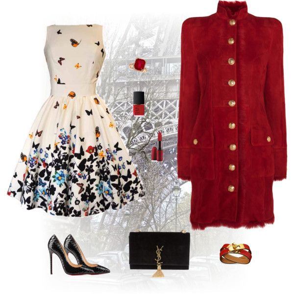 """""""Tour Eiffel , red explosion :)"""" by red-fashion on Polyvore"""
