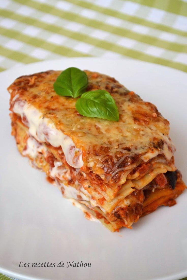 les recettes de nathou lasagnes bolognaises cuisine lasagne