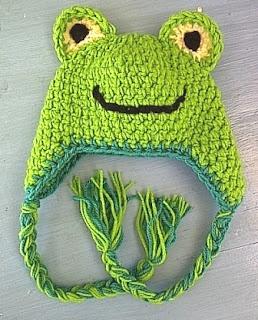 Froggy earflap hat