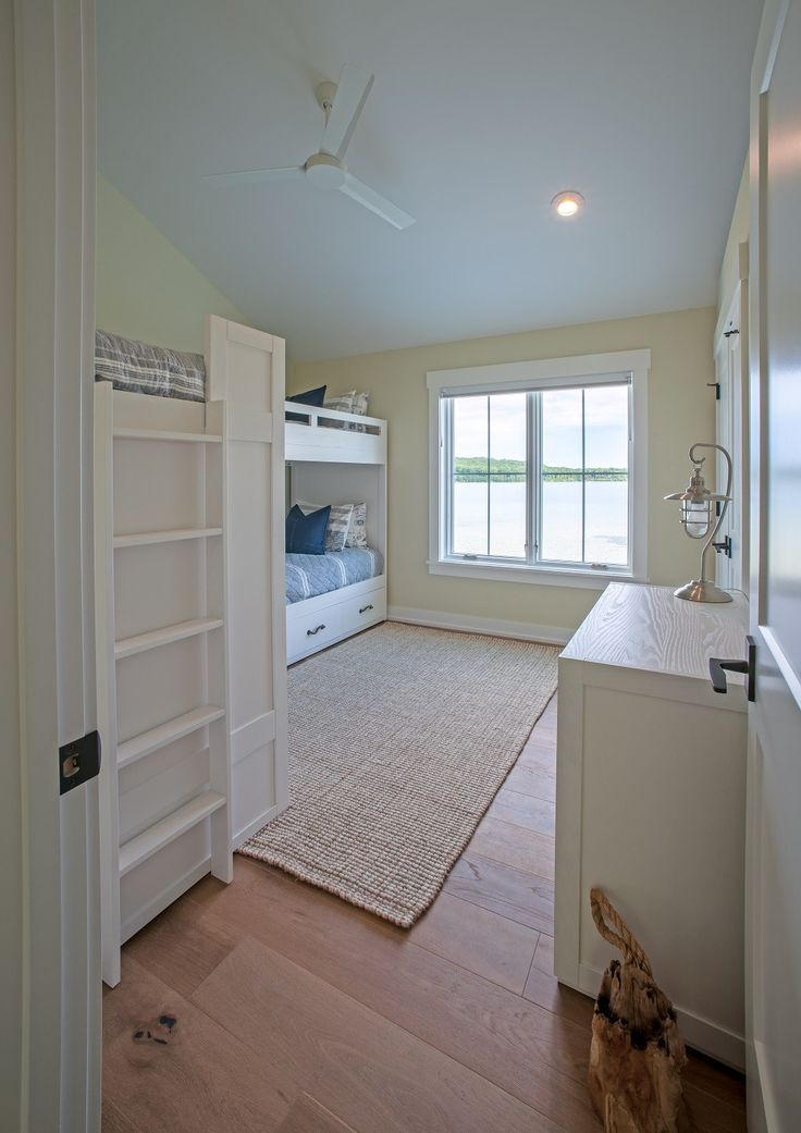Tall Cedar Cottage Style Residential Floor Plan Cool Bunkroom With Room For Four White Oak
